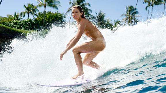 naked women in the surf
