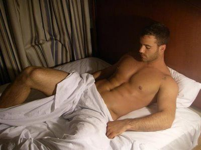 hot guys naked in bed