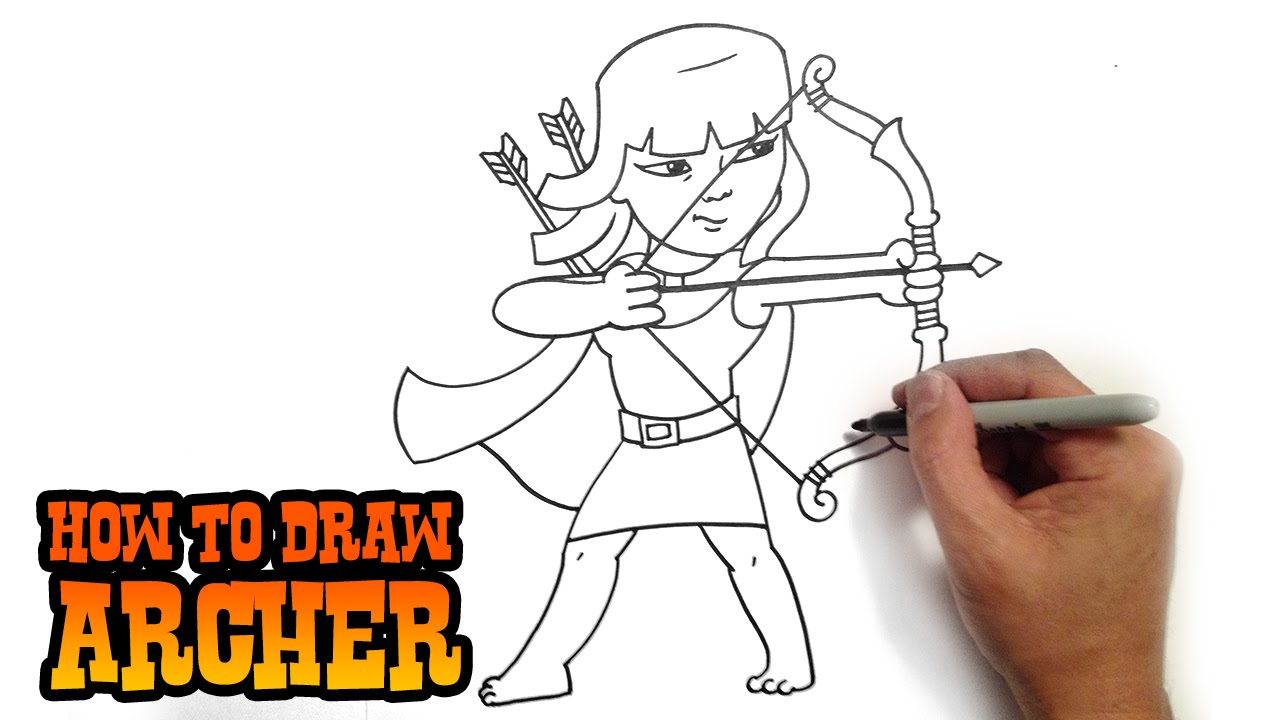 how to draw clash of clans archer
